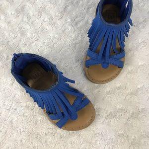 Baby Gap Blue Fringe Sandals Toddler Girl Size 7